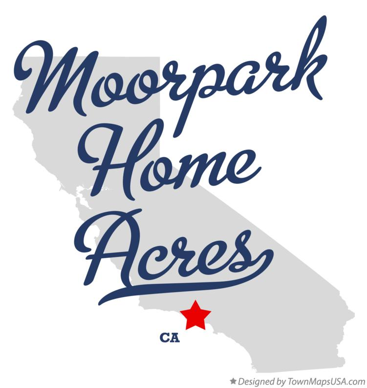 Map of Moorpark Home Acres California CA