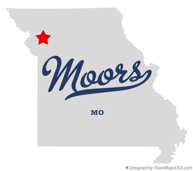 Map of Moors Missouri MO