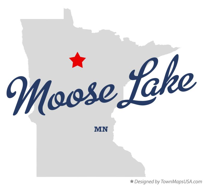 Map of Moose Lake Minnesota MN