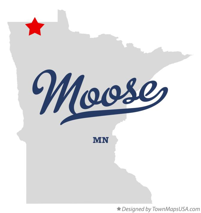 Map of Moose Minnesota MN