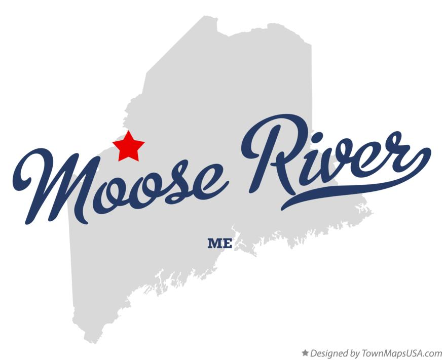 Map of Moose River Maine ME