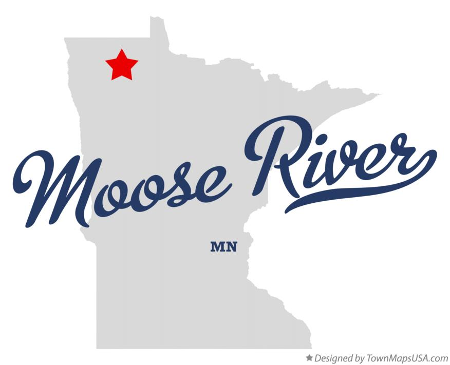 Map of Moose River Minnesota MN