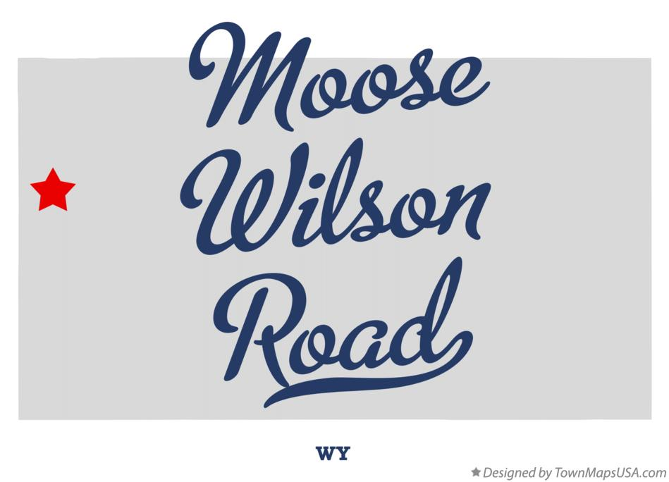Map of Moose Wilson Road Wyoming WY