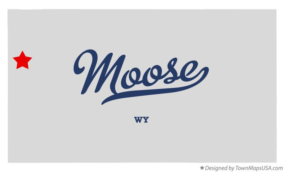 Map of Moose Wyoming WY