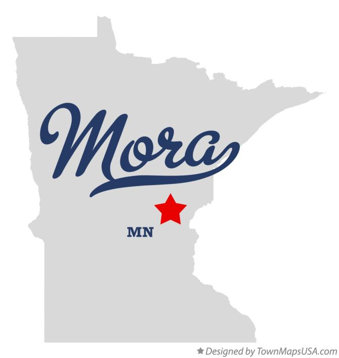 Map of Mora Minnesota MN