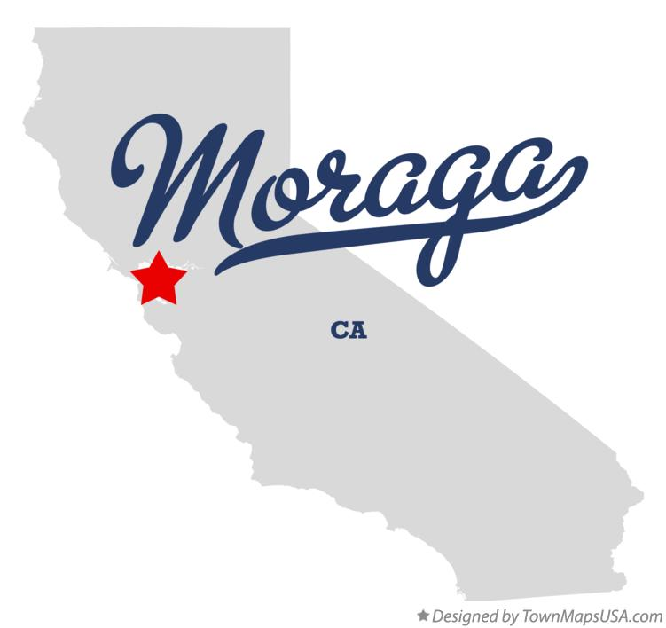 Map of Moraga California CA