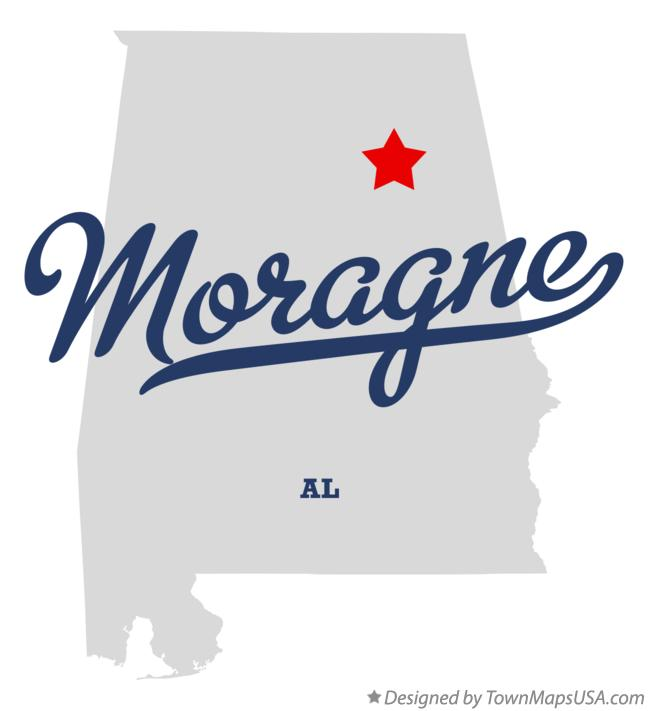 Map of Moragne Alabama AL