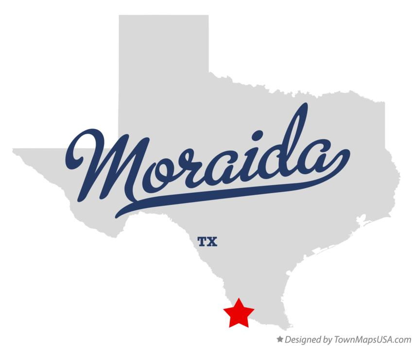 Map of Moraida Texas TX