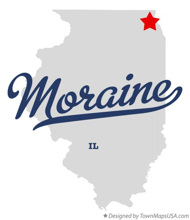 Map of Moraine Illinois IL
