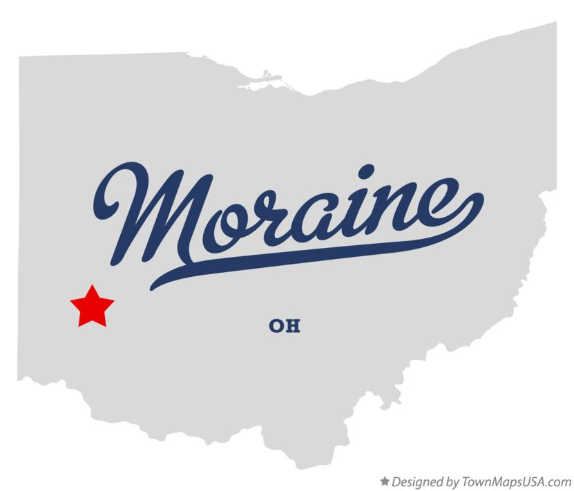 Map of Moraine Ohio OH