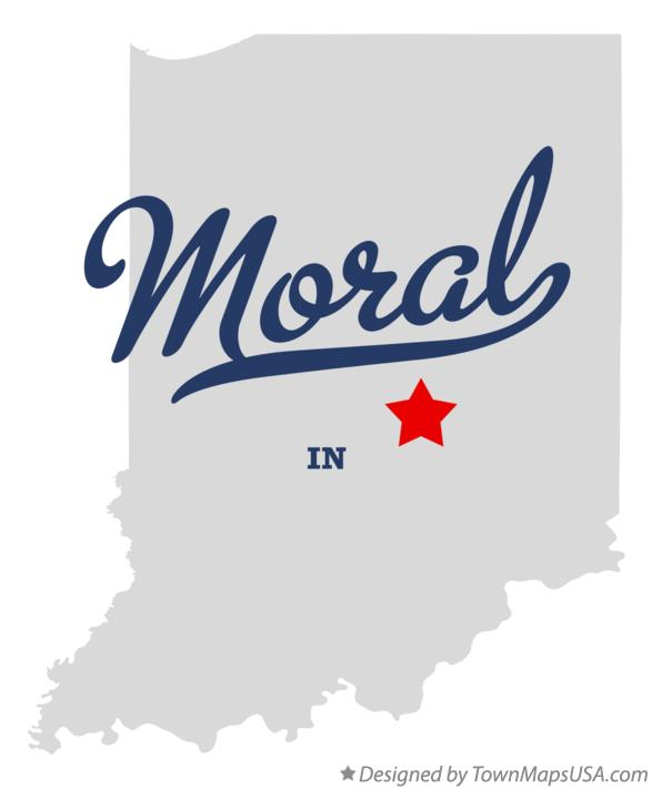 Map of Moral Indiana IN
