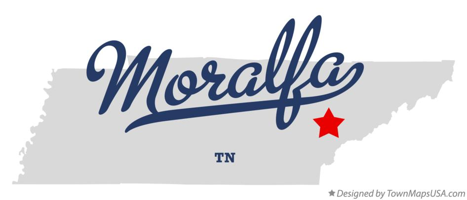 Map of Moralfa Tennessee TN