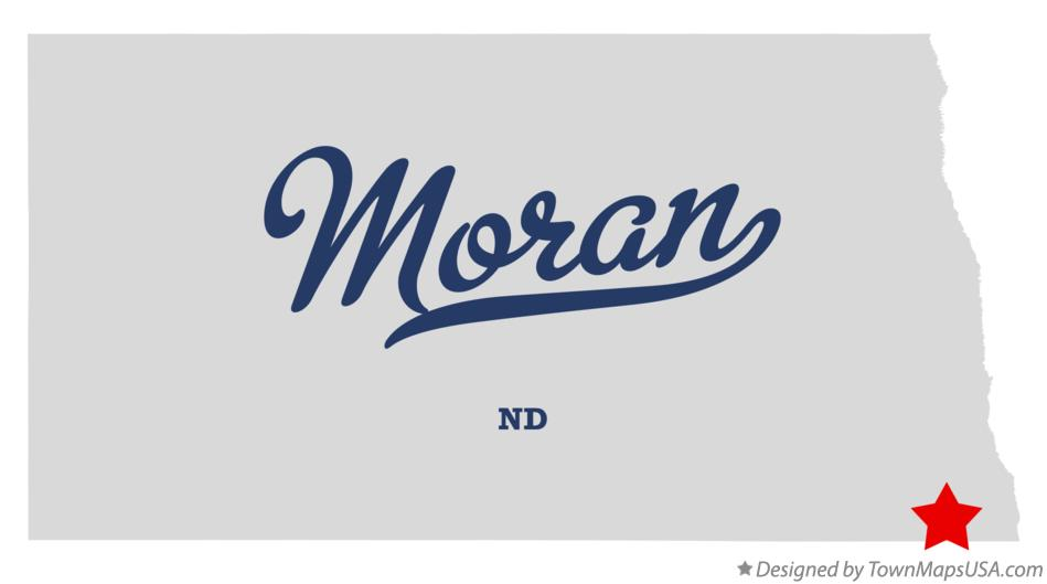 Map of Moran North Dakota ND