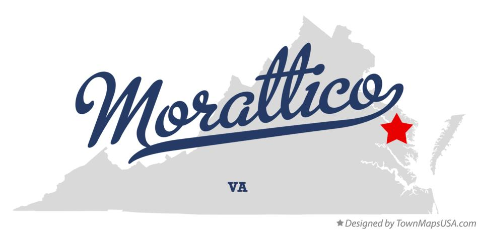 Map of Morattico Virginia VA