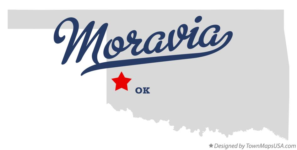 Map of Moravia Oklahoma OK