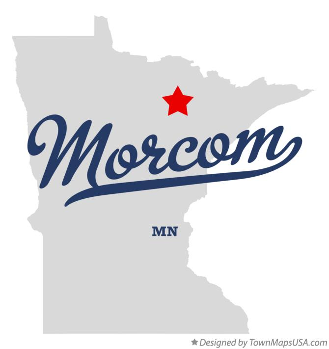 Map of Morcom Minnesota MN