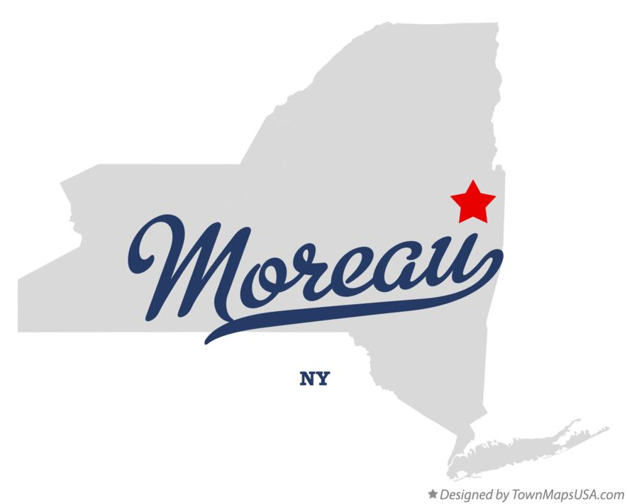 Map of Moreau New York NY