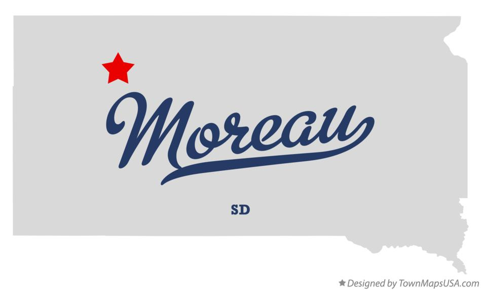 Map of Moreau South Dakota SD