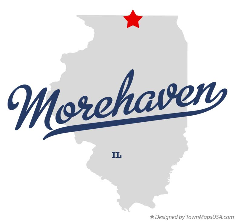 Map of Morehaven Illinois IL