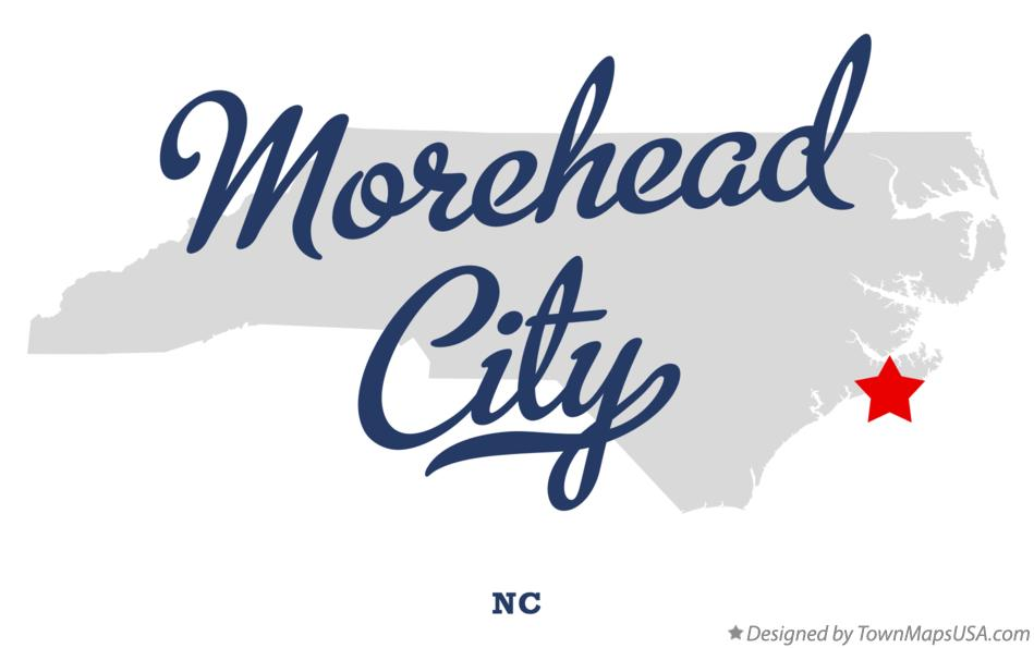 Map Of Morehead City Nc North Carolina