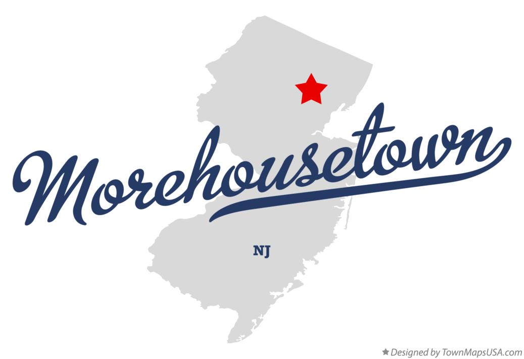 Map of Morehousetown New Jersey NJ