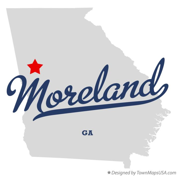 Map of Moreland Georgia GA