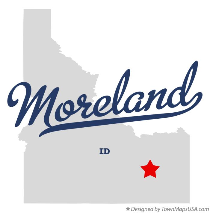 Map of Moreland Idaho ID