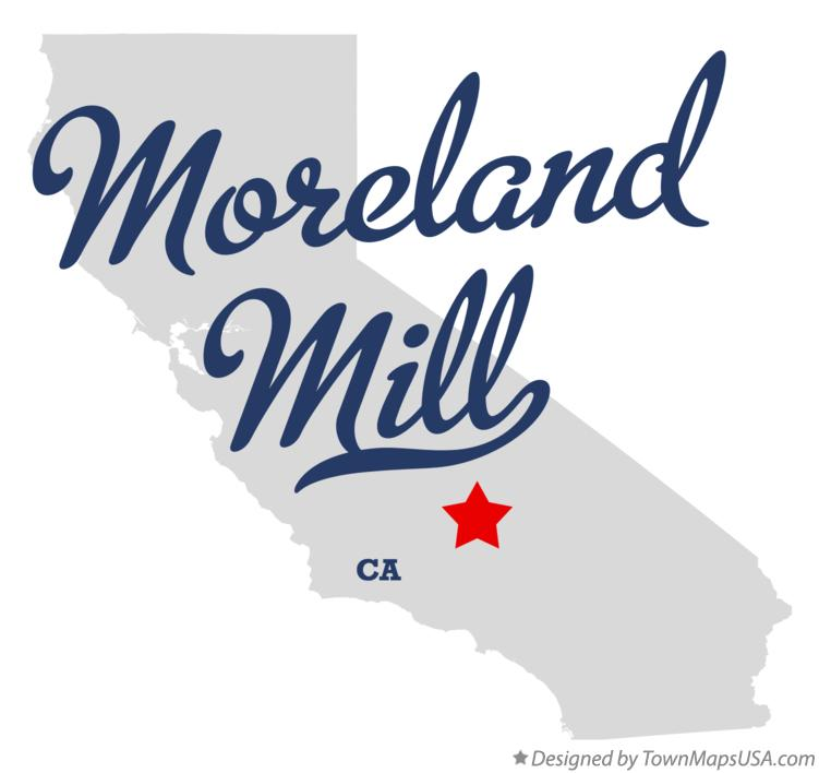 Map of Moreland Mill California CA