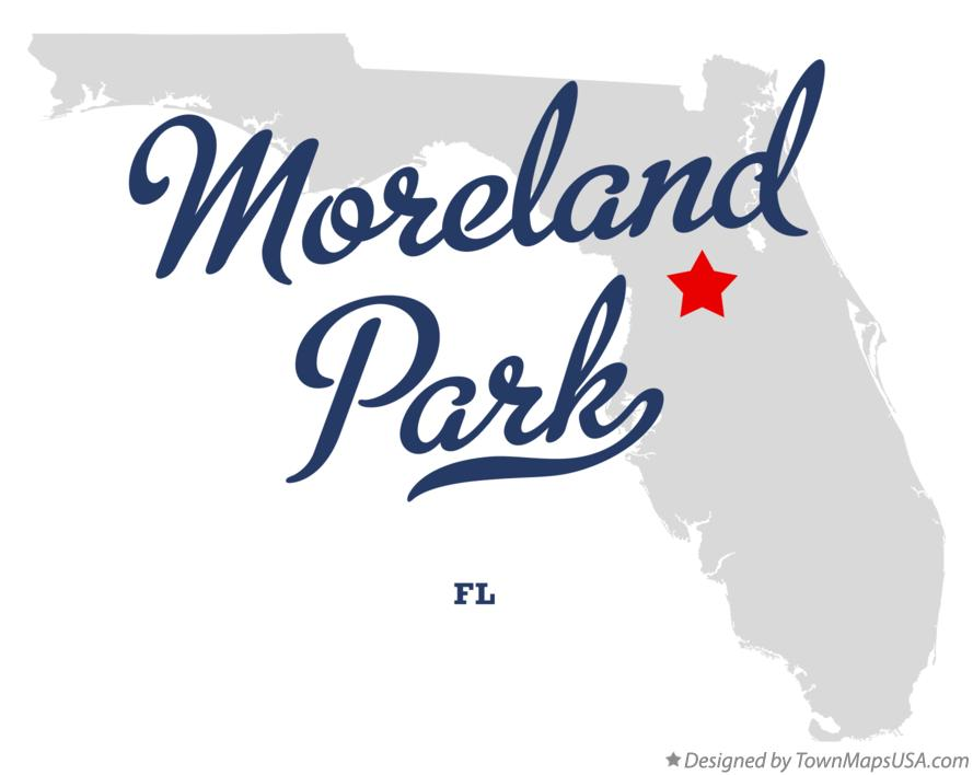 Map of Moreland Park Florida FL