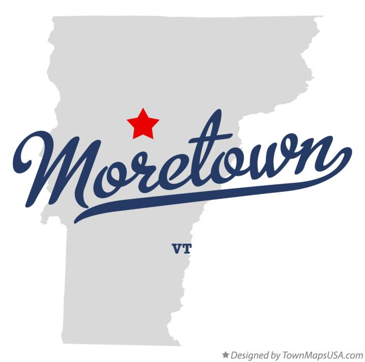 Map of Moretown Vermont VT