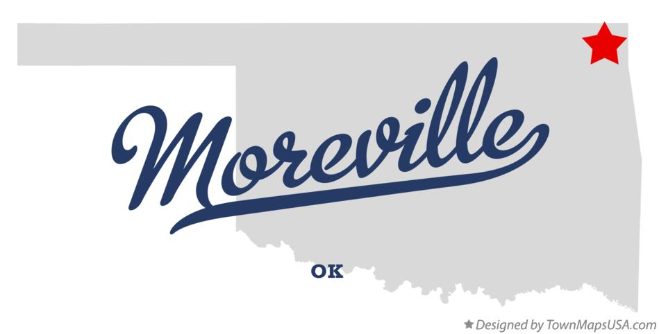 Map of Moreville Oklahoma OK