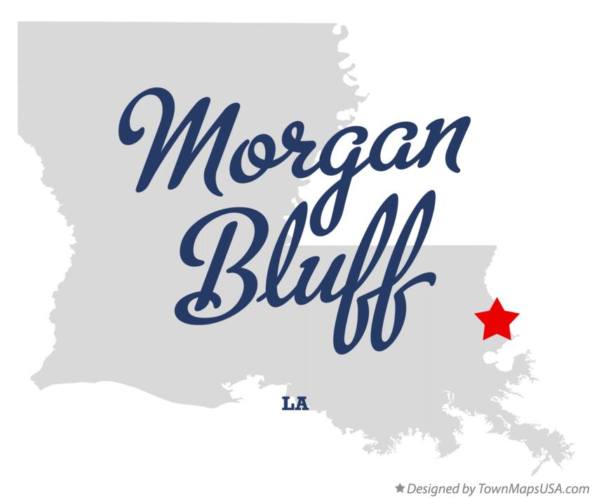 Map of Morgan Bluff Louisiana LA