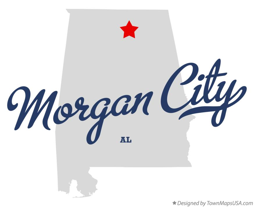 Map of Morgan City Alabama AL