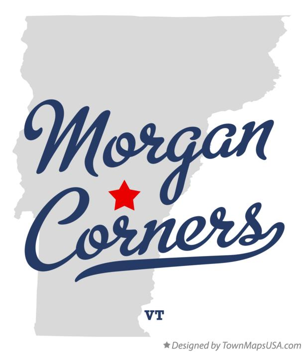 Map of Morgan Corners Vermont VT
