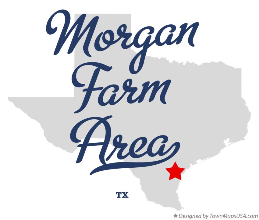 Map of Morgan Farm Area Texas TX