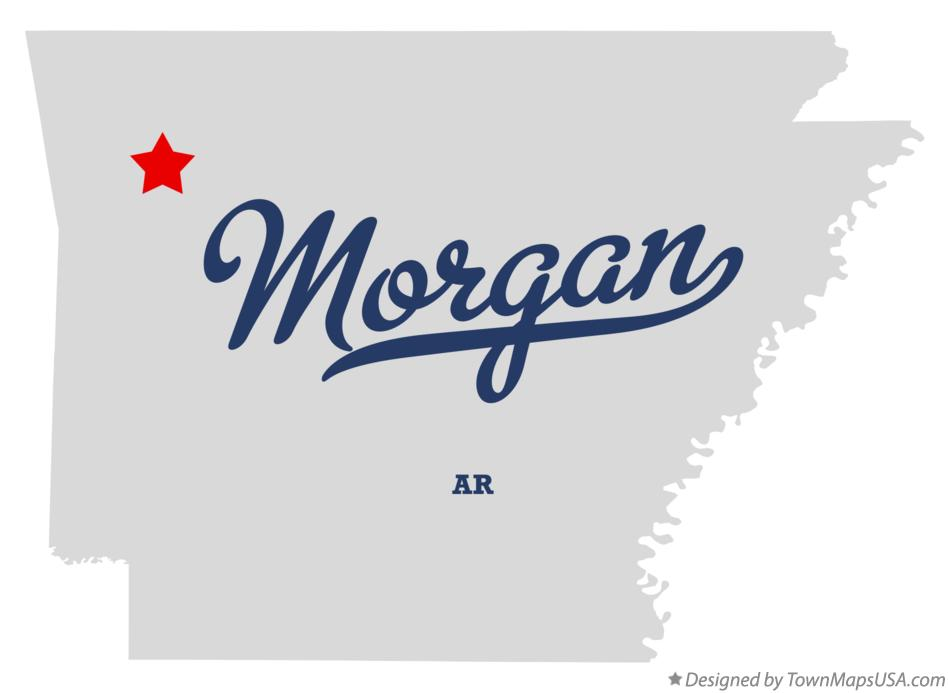 Map of Morgan Arkansas AR