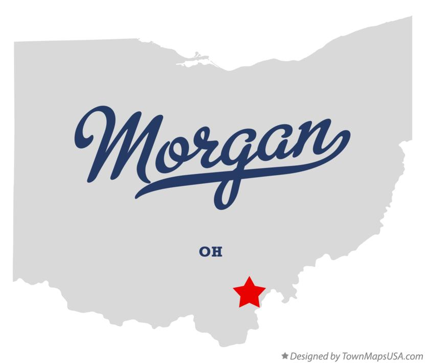 Map of Morgan Ohio OH