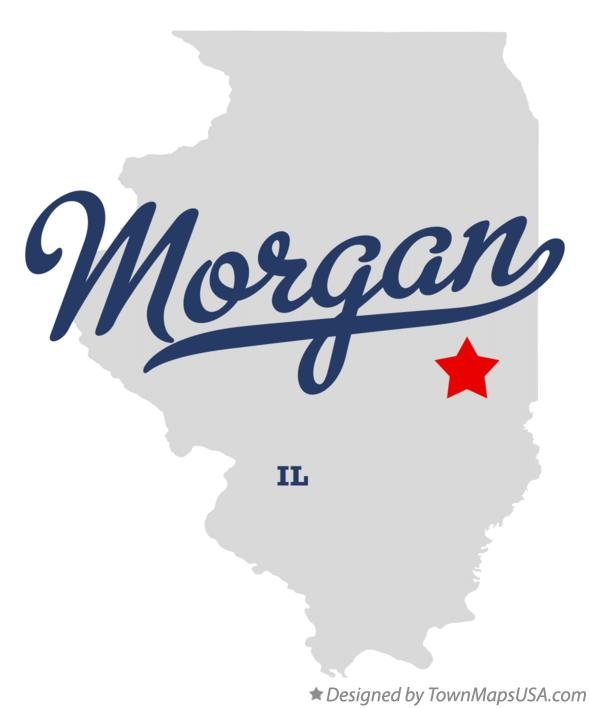 Map of Morgan Illinois IL