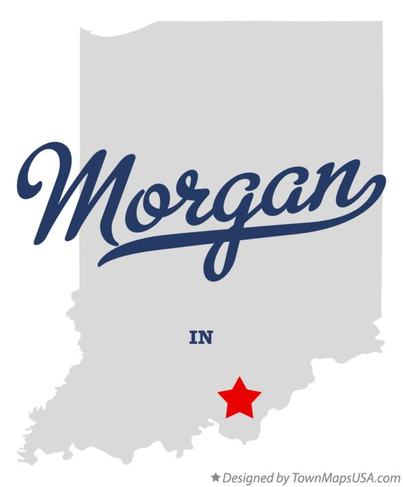 Map of Morgan Indiana IN