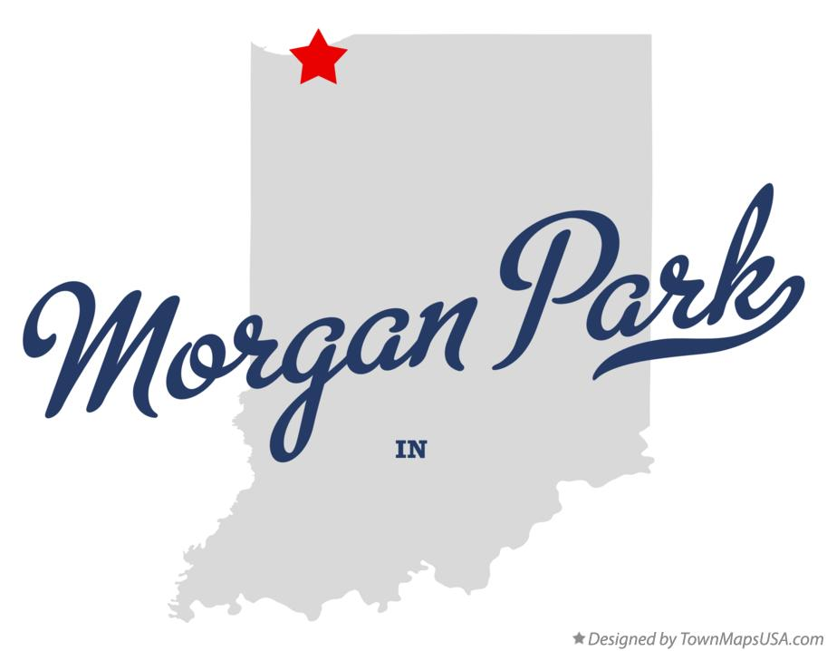 Map of Morgan Park Indiana IN