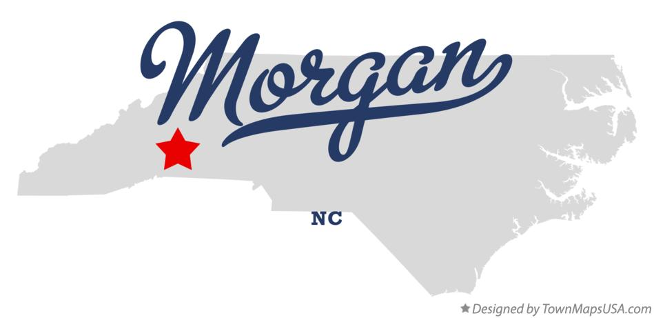 Map of Morgan North Carolina NC