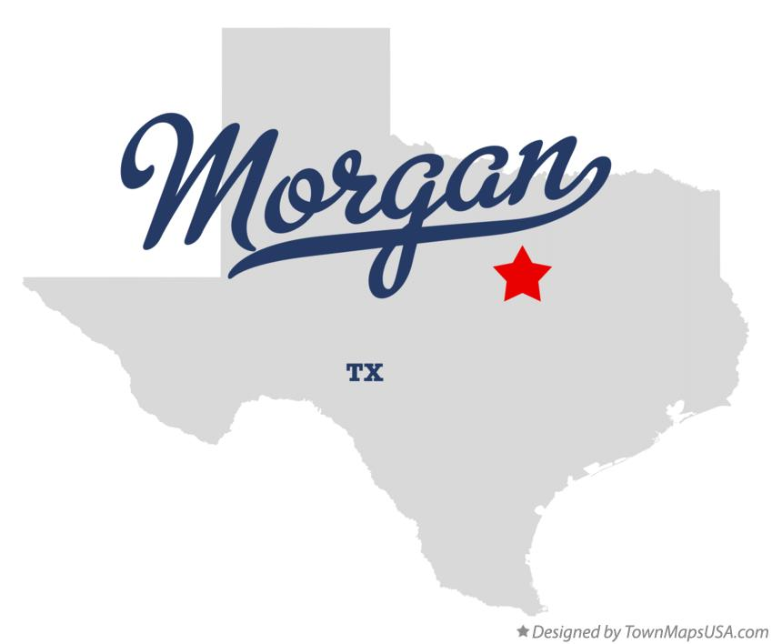 Map of Morgan Texas TX