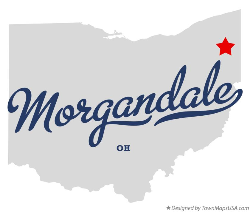 Map of Morgandale Ohio OH