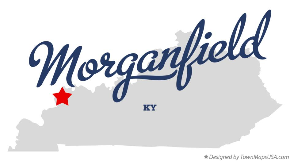 Map of Morganfield Kentucky KY