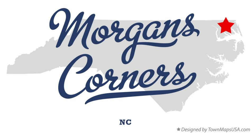 Map of Morgans Corners North Carolina NC