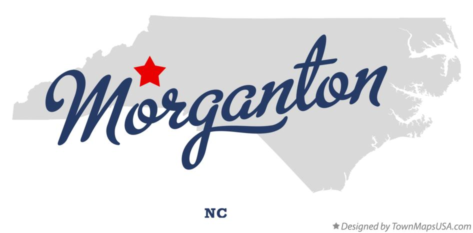 Map of Morganton North Carolina NC