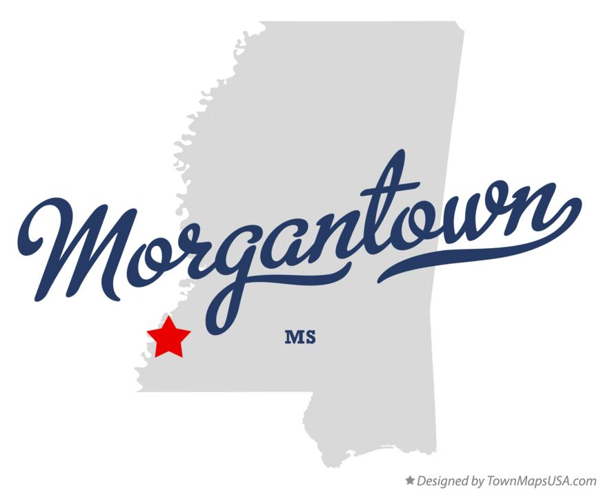 Map of Morgantown Mississippi MS