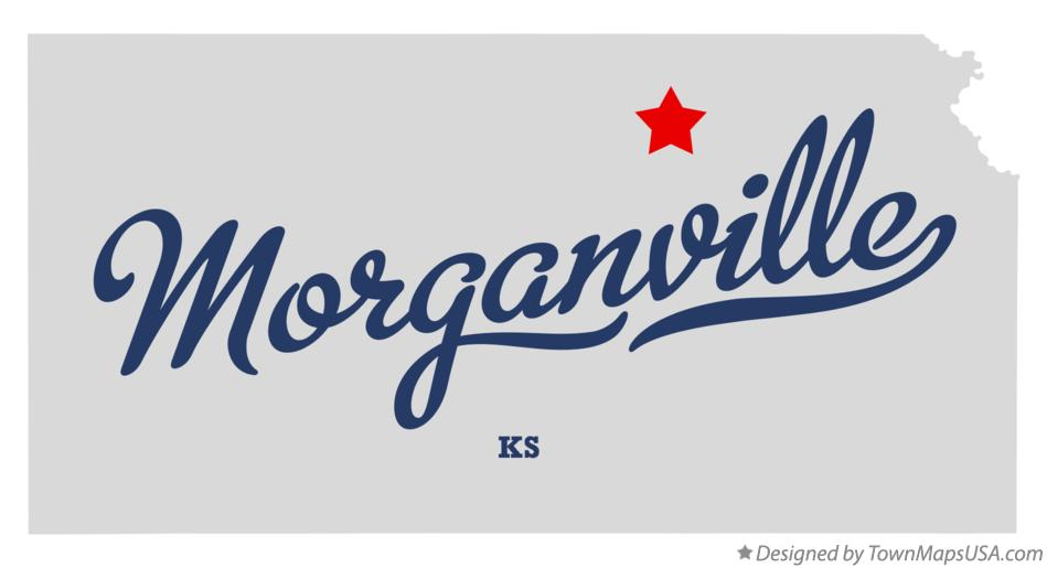 Map of Morganville Kansas KS