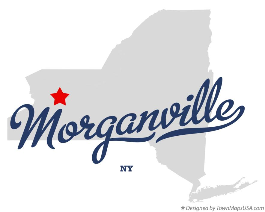 Map of Morganville New York NY