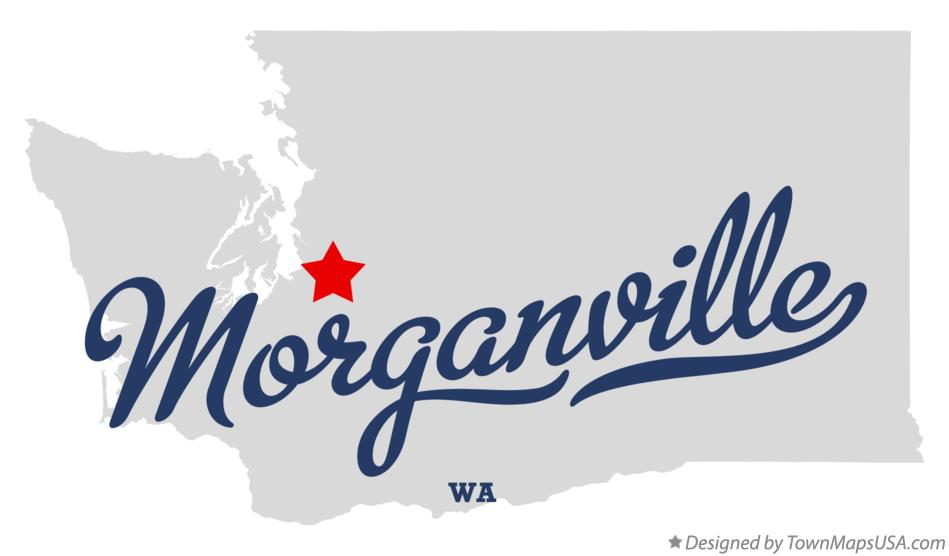 Map of Morganville Washington WA